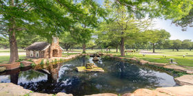 Chapel Springs Garden and Water Feature at Laurel Land Memorial Park - Dallas