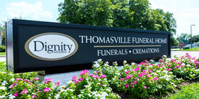 Signage at Thomasville Funeral Home