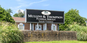 Sign at Mullins & Thompson Funeral Service