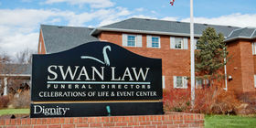 Signage at Swan-Law Funeral Directors