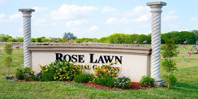 Rose Lawn Memorial Gardens Entrance Sign