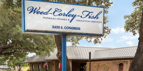 Signage at Weed Corley Fish Funeral Homes and Cremation Services