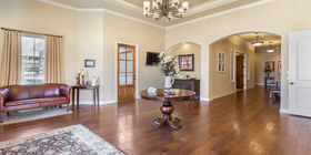 Your Texas Hill Country funeral home. Lobby at Weed-Corley-Fish Leander Cedar Park
