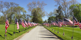 Avenue of Flags Boulevard at Ottawa Hills Memorial Park