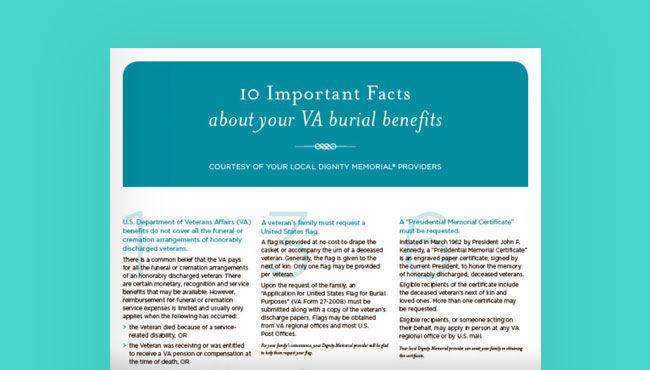 Veteran Funeral Resources | Planning a Veterans Funeral