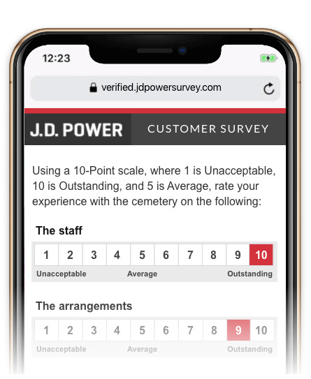 The JP Power Survey showing on an iPhone
