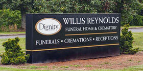 Signage at Willis-Reynolds Funeral Home