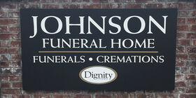 Signage at Johnson Funeral Home