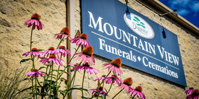 Signage at Mountain View Mortuary