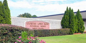 Signage at Curtis and Son Funeral Home