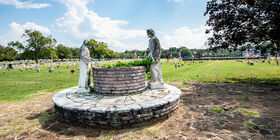 Grounds with Statues at Roselawn Funeral Home & Roselawn Cemetery