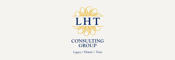 LHT Consulting Group logo with gray background