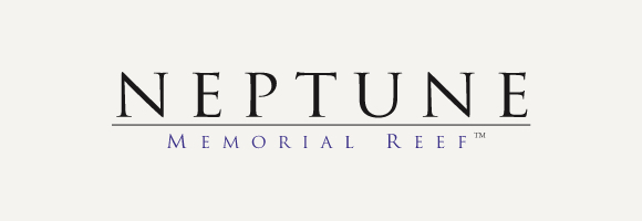 Neptune Memorial Reef logo with gray background
