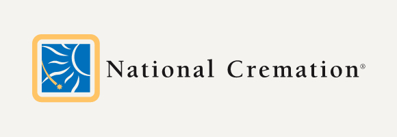 National Cremation logo with gray background