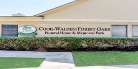 Signage at Cook-Walden/Forest Oaks Funeral Home and Memorial Park