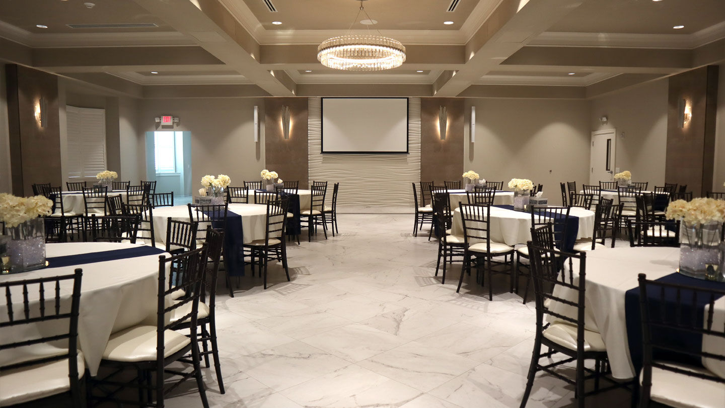 Reception Room at Blount & Curry Funeral Home-MacDill Chapel