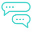 conversation icon with message bubbles