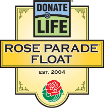 Donate Life Rose Parade Float logo