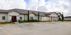 Front exterior building at Katy Funeral Home