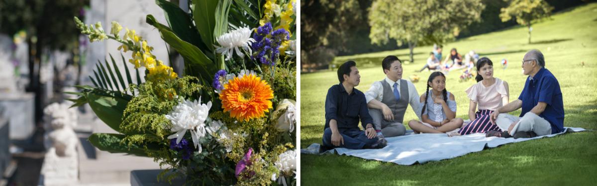 ching ming spring celebration collage