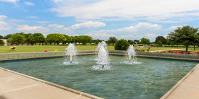Water feature at Laurel Land Memorial Park - Dallas