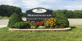 Signage at Birmingham Funeral Home