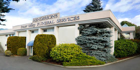 Front exterior building at Henderson's Fraser Valley Funeral Home