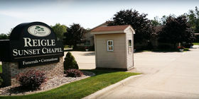 Signage at Reigle Funeral Home/Sunset Chapel