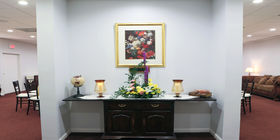 Reception room at Babione Funeral Home