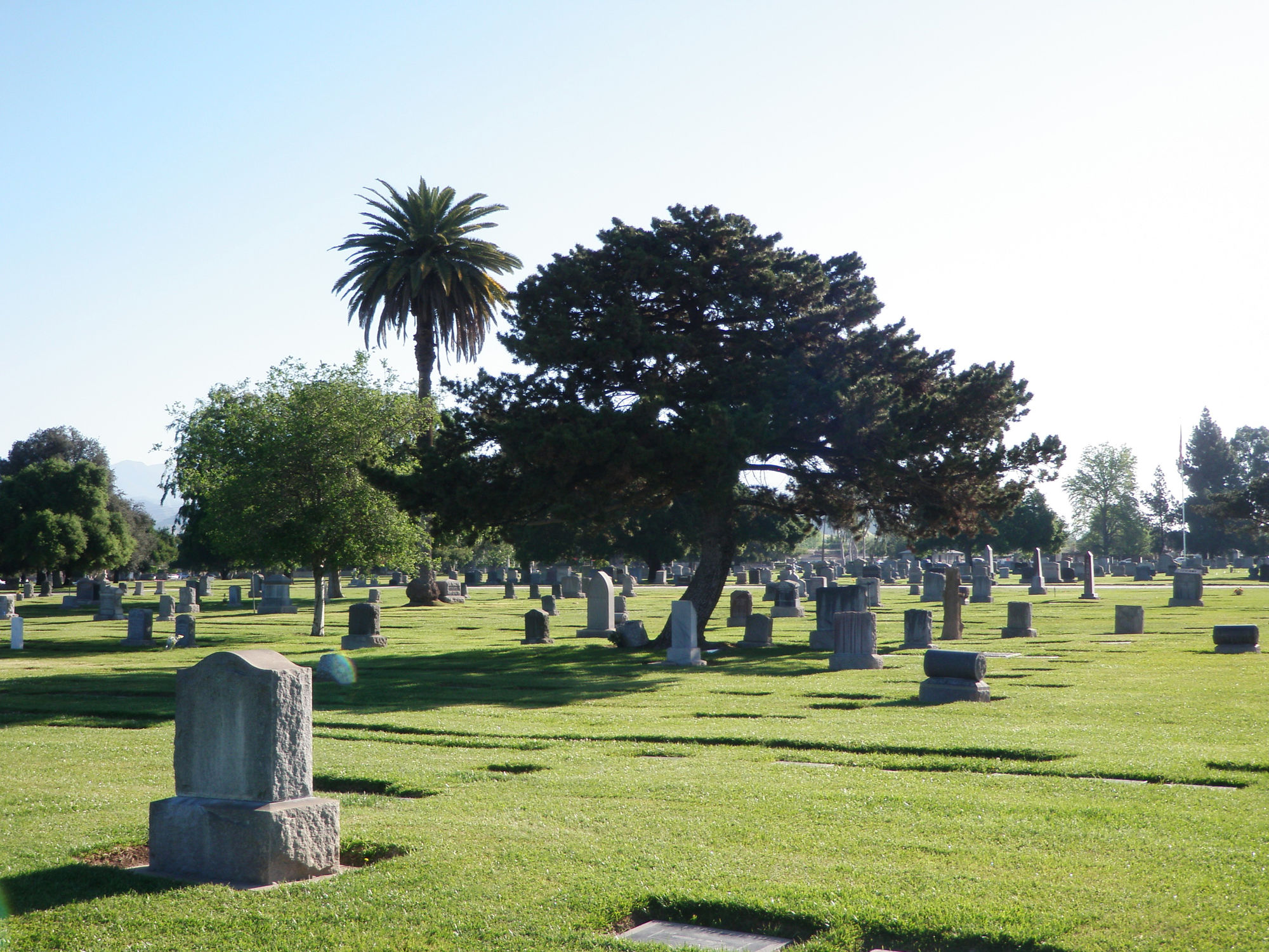Cemetery grounds at Oakdale Mortuary