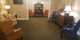 Sitting area at Kilgroe Funeral Home
