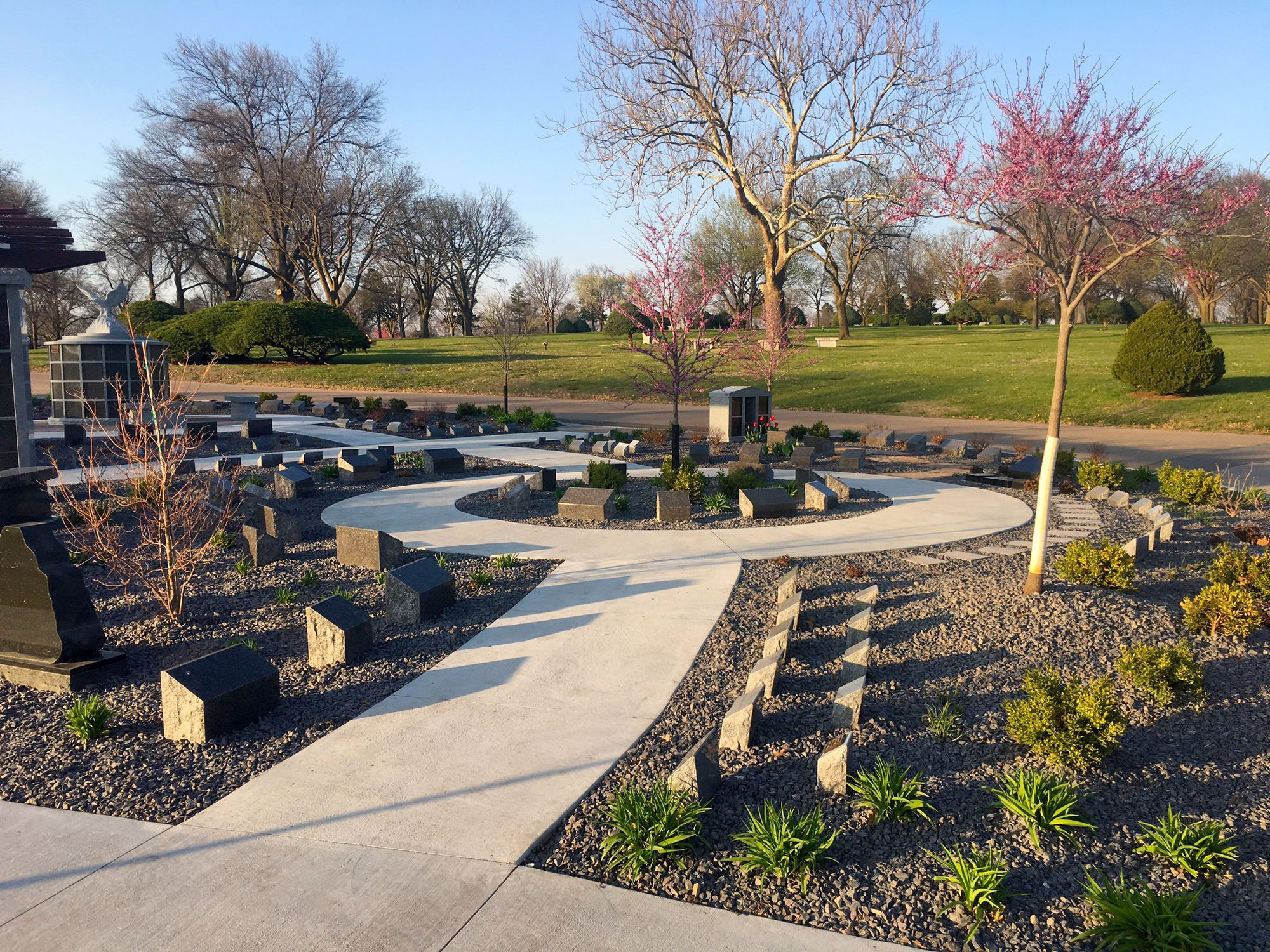 Cremation garden at Lincoln Memorial Funeral Home