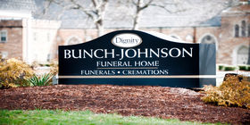 Signage at Bunch-Johnson Funeral Home